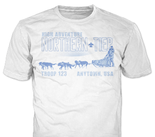 Northern Tier Adventure Custom T-shirt Design SP5353 on White Color