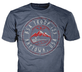 Northern Tier Adventure Custom T-shirt Design SP5311 on Heather Navy Color