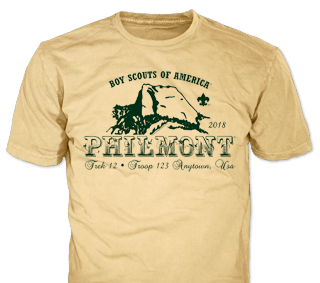 Philmont Trek High Adventure Custom T-Shirt SP2735 on Yellow Haze