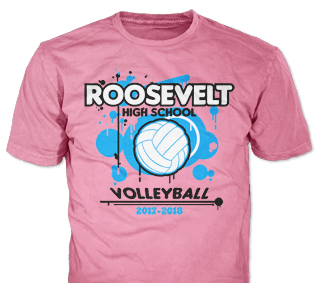 Volleyball Team T-Shirt Design Ideas from ClassB