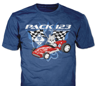 Cub Scout Pinewood Derby T-Shirt Design Ideas from ClassB