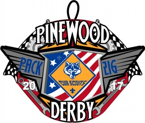 Pinewood Derby Embroidered Patch Design Idea