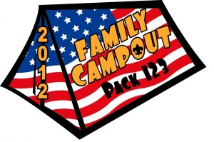 Family Campout Embroidered Patch Design Idea