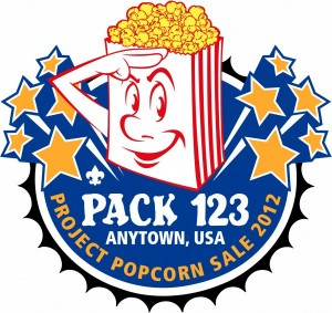 Project Popcorn Embroidered Patch Design Idea
