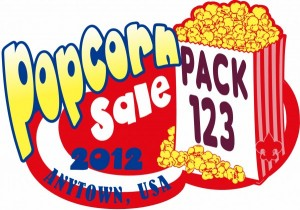Popcorn Sale Embroidered Patch Design Idea
