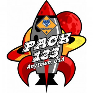 Red Rocket Embroidered Patch Design Idea