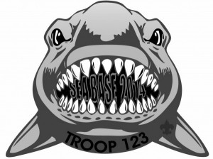 Sea Base Shark Embroidered Patch Design Idea
