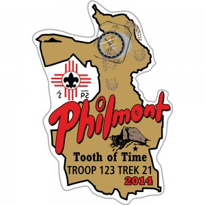 Philmont Map Embroidered Patch Design Idea