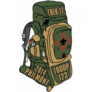 Philmont Backpack Embroidered Patch Design Idea