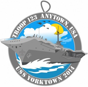 USS Yorktown Embroidered Patch Design Idea