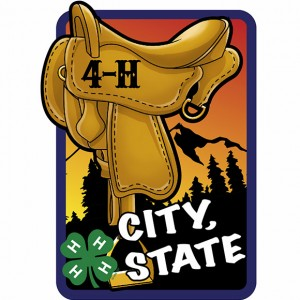 4-H Saddle and Mountains Patch Design Idea