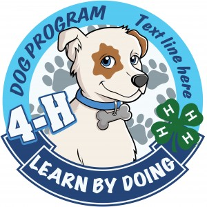 4-H Dog Program Embroidered Patch Design Idea