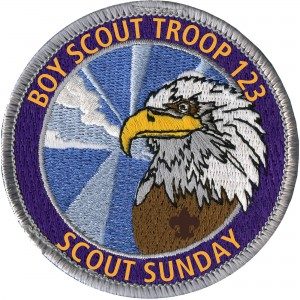 Scout Sunday Embroidered Patch Design Idea