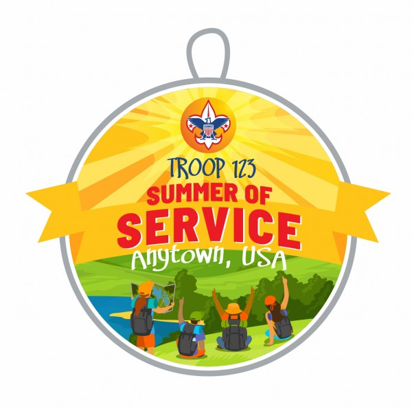 2021 summer of service custom patch example