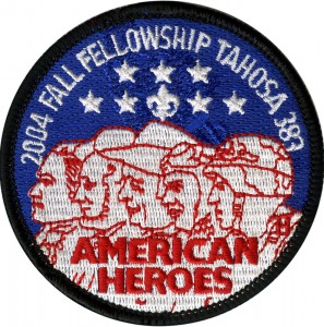 American Heroes  Embroidered Patch Design Idea