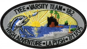 Fishing Derby Embroidered Patch Design Idea