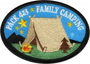 Camp Out Embroidered Patch Design Idea