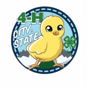 4-H Hatching Chick Patch Design Idea