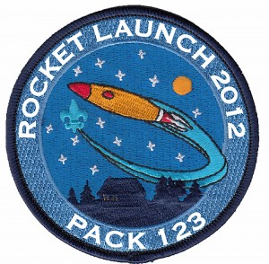 Rocket Launch Embroidered Patch Design Idea
