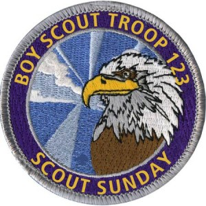Scout Sunday Patch Design Idea