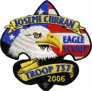 Proud Eagle Embroidered Patch Design Idea