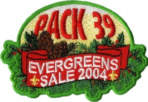 Tree Sale Embroidered Patch Design Idea