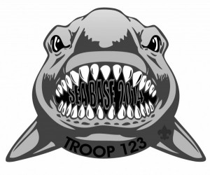 Sea Base Shark Patch Design Idea