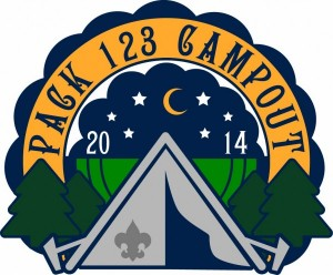 Night Camping Patch Design Idea