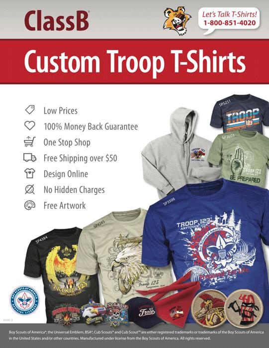 ClassB custom boy scout troop catalog cover