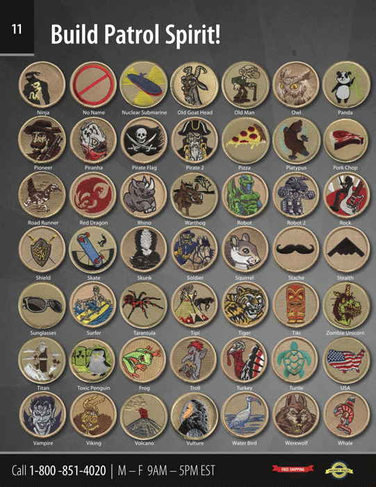 ClassB boy scout troop catalog Page 11 custom embroidered patches