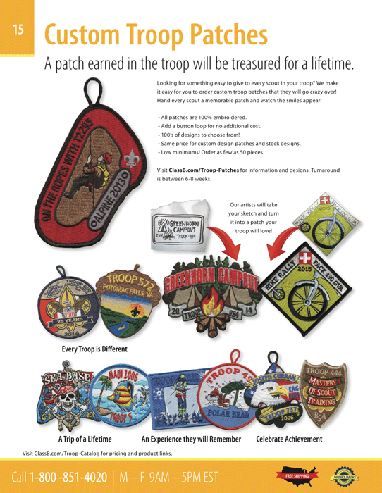 boy scout troop catalog page 15 boy scout troop patches