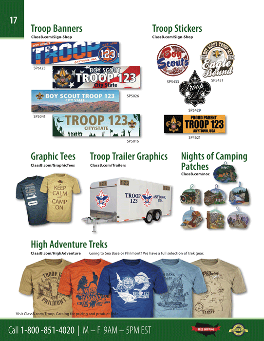 boy scout troop catalog page 17 vinyl banners stickers camping patches