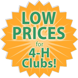 low prices for 4-H Club custom embroidery medallion
