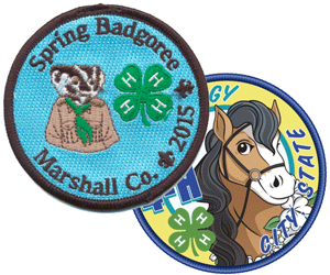 4-h club custom embroidered patches collage