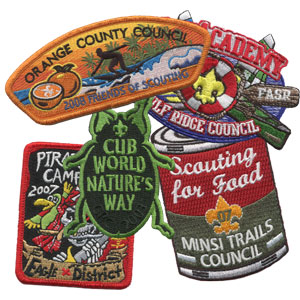 custom BSA council patches