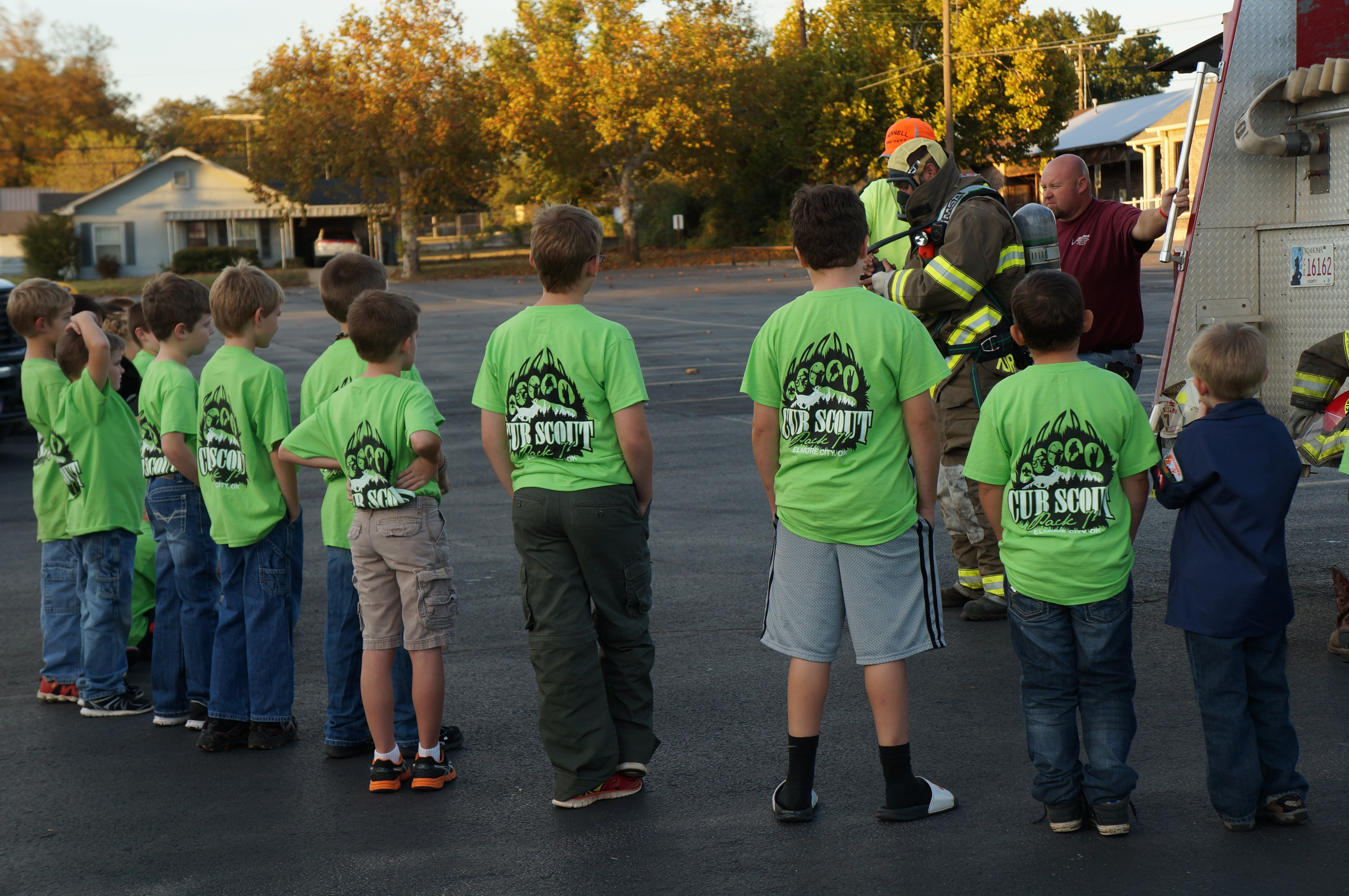 Cub Scout Pack 71 From Elmore City OK Meeting The Local Firemen