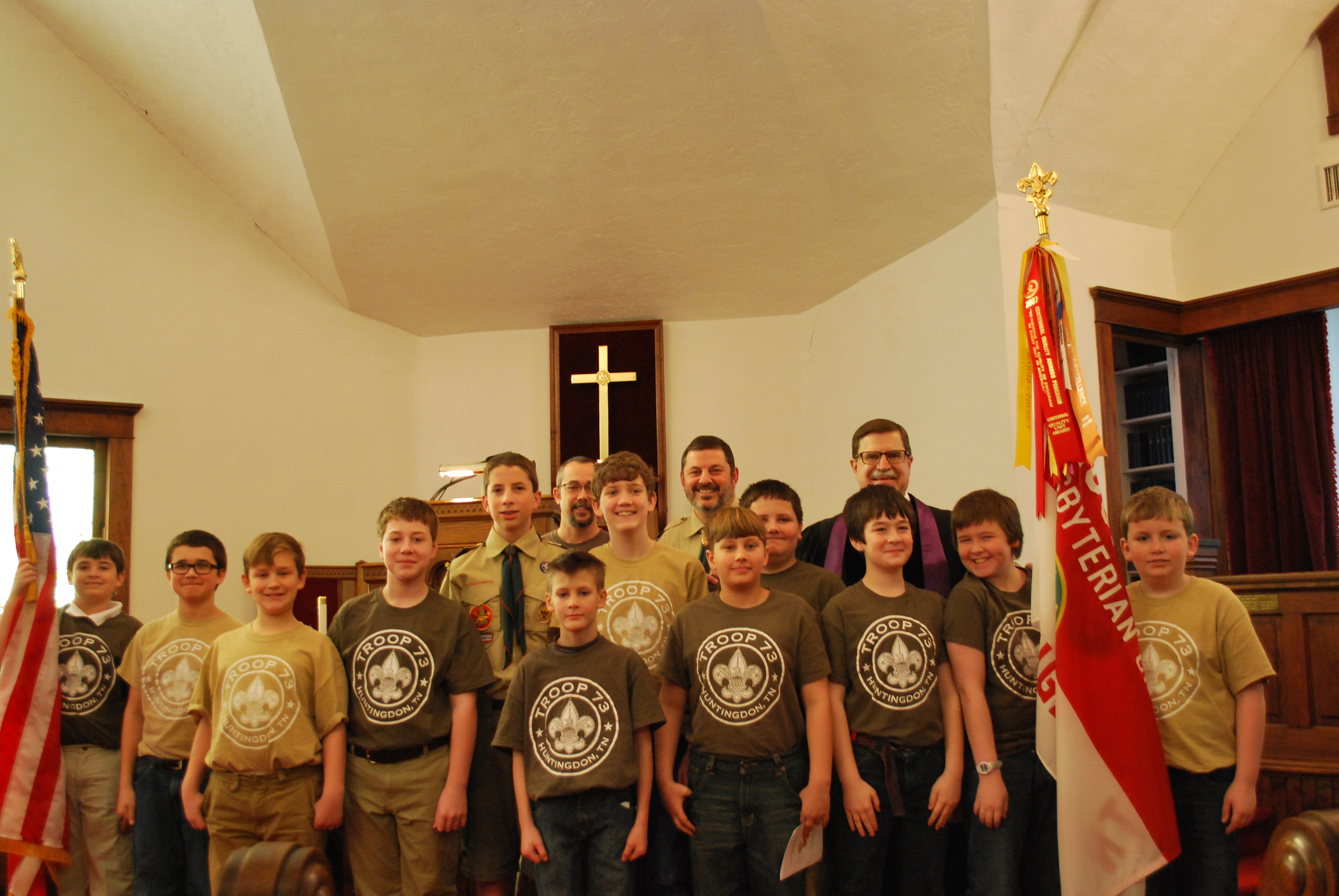 Scout Troop 73 Huntingdon Tennessee Attending An Important Event With Their Chartering Organization