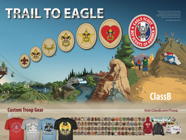 boy scout patrol patch poster