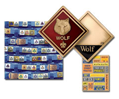 cub scout patches coins scrapbooking and pinewood derby kits