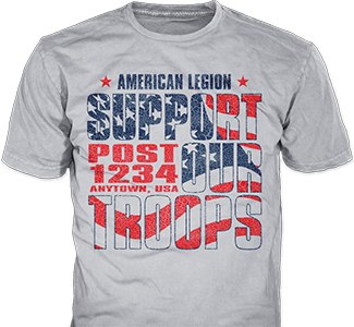 American Legion Post t-shirts design idea SP4443 on ash grey t-shirt