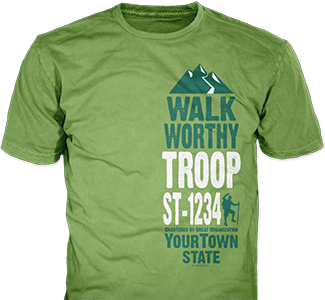 Trail Life USA t-shirt design idea SP5904 on pistachio t-shirts