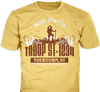 Trail Life USA t-shirt design idea SP5910 on tan t-shirts