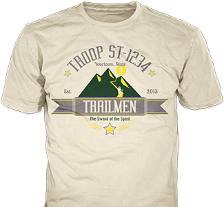 Trail Life USA t-shirt design idea SP6336 on natural t-shirts