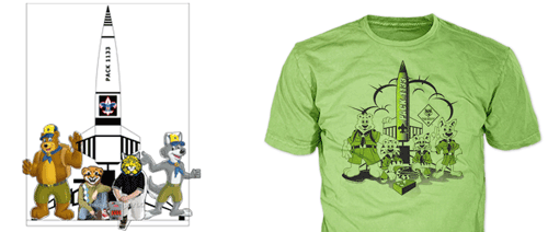 cub scout drawing turned into custom t-shirt for cub scout pack