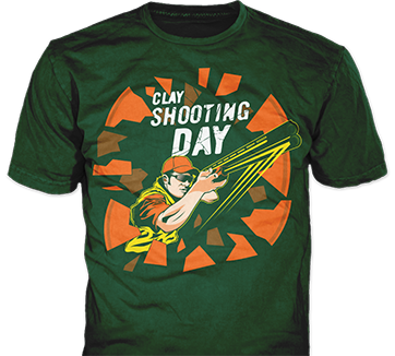 Shooting clay t-shirt design idea SP5443