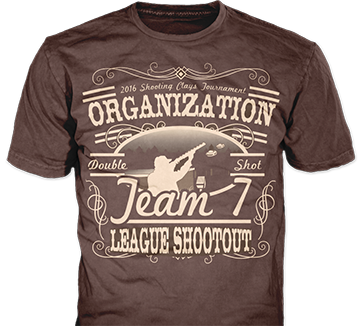 Shooting clay t-shirt design idea SP6028