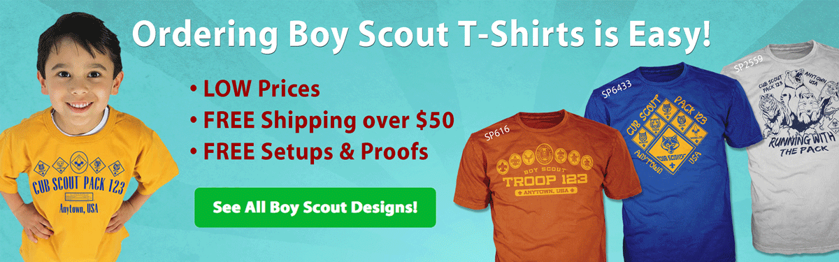 boy scout custom T-shirts and gear
