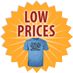 low prices for custom t-shirts medallion