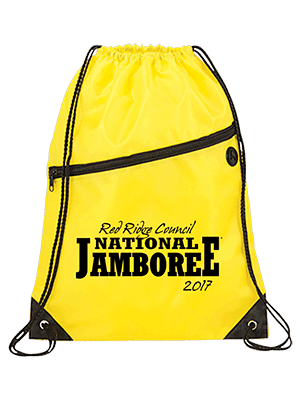Custom jamboree drawstring bag from classB
