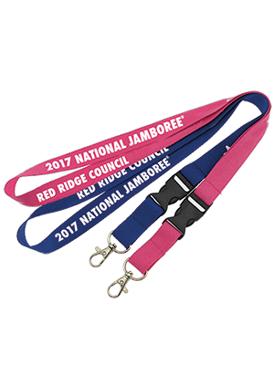 Custom jamboree lanyard from classB